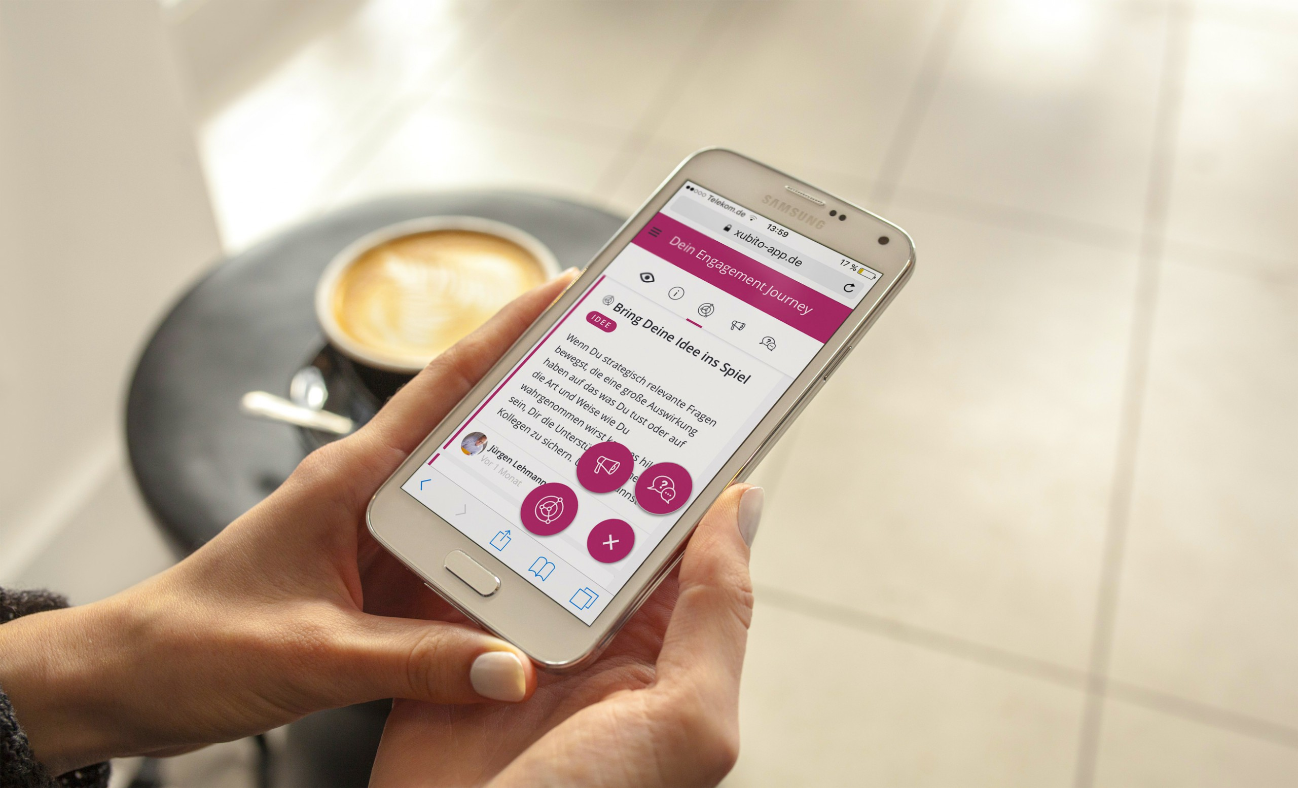 Xubito Veränderungsbegleitung per App
